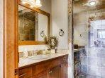 Snowbird 304 Ensuite bathroom with steam shower