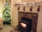 Christmas at Balure! Log fires and celebrations.
