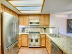 The Gourmet Viking Kitchen is Fully-Stocked - Ready for the Chef to Prepare your Favorite Meals