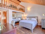 Above the Master Bedroom is a Loft with Two Twin Beds