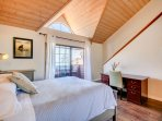 Stunning Beach Views from the Master Bedroom..   Stairs Lead up to the Loft Above