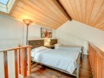 The Loft is Furnished with Two Twin Beds