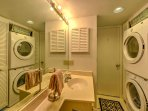 Keep your clothes and linens fresh with these in-unit laundry machines, located in the second bathroom.