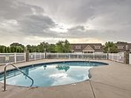Cool off with a leisurely swim in this community pool.