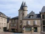 The medieval city of Brive for shops and weekly markets