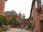Collonges-la-rouge once originally a stopover for Pilgrim journeys