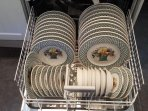 Dishwasher loaded with Villeroy and Boch china