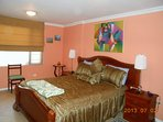 Guest Bedroom, queen size bed, private bath with jetted tub/shower