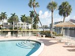 Heated pool on the Intracoastal Waterway