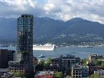 Beautiful view of Vancouver's Harbour from our Espana bedroom window.