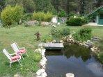 Parc (détente au bord du bassin)