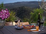 Vanaf uw prive terras heeft u een fascinerend uitzicht op de Andalusische natuur