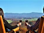 Relax and enjoy the views of the Blue Ridge  Mountains from Absolute Perfect Escape 1.