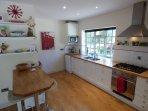 Modern fitted and well equipped kitchen