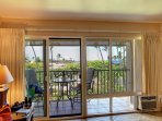 Enjoy meals on lanai, which has pull-down shade. Updated modern windows.