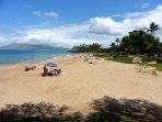 Sandy-bottom, warm-water, Kamaole Beach Park II, 200 steps from our Akahi condo!