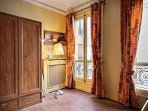 Bedroom 3 is equipped with : 2 single beds, wardrobe, desk, hard wood floor.