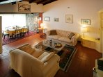 The spacious livingroom