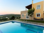 Villa Morfeas has a 25 m2 private swimming pool, 0.30-1.35 meters deep, for you to enjoy!