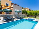 Villa Eros has a 25 m2 private swimming pool, 0.30-1.35 meters deep, for you to enjoy, as well as a