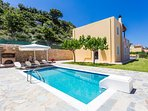 Villa Ivi has a 25 m2 private swimming pool, 0.30-1.35 meters deep, for you to enjoy!