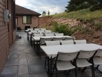For an incremental fee we can accommodate small events on the back patio - Inquire for details.