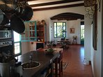 Our kitchen and dining area that we are happy to share with our guests.