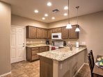 Look forward to preparing tasty meals in the fully equipped kitchen.