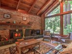 Timber beams, brick fireplaces and floor-to-ceiling windows capture the California essence.