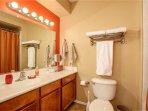 Master bathroom with garden tub shower