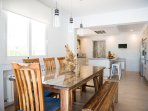 classy wooden dining table