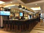 Bar and restaurant inside condo