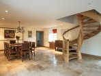 through passageway to living room