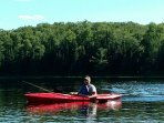 Kayak the lake or nearby streams