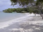 The Agua Azul beach ca be reached in my boat in 15 minutes