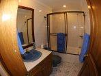 Bathroom # 1 with shower and bath tub