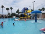 Kids love the water park and slides, free passes in summer