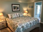First floor master bedroom with king sized bed and ensuite.