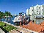 This vacation rental is directly on the water, with a private dock!