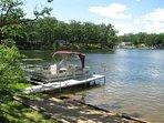 Dock, pontoon, beach and swim area.
