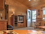 Inside you'll find lodge-themed decor, with homey accents, rustic furnishings and all the necessary comforts of home.