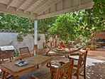 Enjoy your getaway in the courtyard of this 3-bedroom, 2-bathroom vacation rental house in San Pedro.