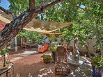 The courtyard features a hammock and comfortable seating for everyone in your group.