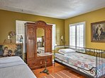 Upstairs in the loft, you'll find 3 twin-sized beds as well as a queen bed.