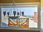 The upstairs window offers a fabulous view of the harbor.