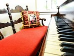Baby grand piano in the Clarksdale White House.