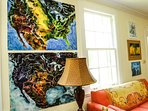 John Ruskey watercolor originals throughout the Clarksdale White House.