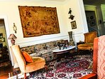 One of two living rooms in the Clarksdale White House.