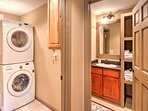 Utilize the in-unit laundry machines to keep your clothes fresh.