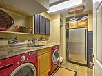 In-unit laundry machines are available for your convenience.